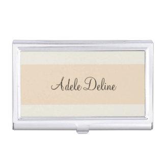 Minimalist Feminine Pale Pink Stripe Business Card Holder