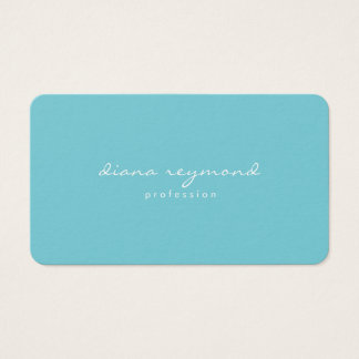 minimalist feminine professional turquoise blue business card