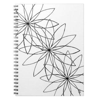 Minimalist Flower Spiral Notebook