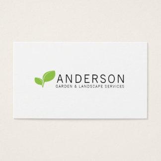 Minimalist Garden Landscaping Service Business Card