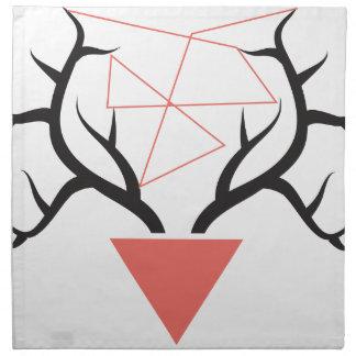 Minimalist Geometric Deer Antlers Printed Napkin