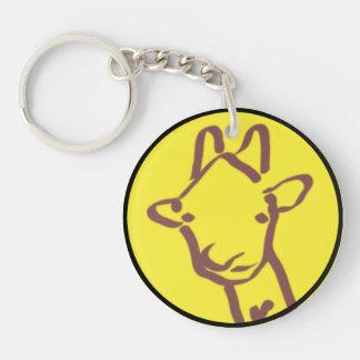 minimalist Giraffe Drawing Single-Sided Round Acrylic Keychain