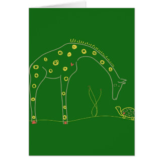 Minimalist Giraffe - Green Cards