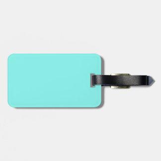 minimalist girly chic aqua blue Turquoise Luggage Tag