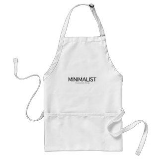 Minimalist (gray day) standard apron