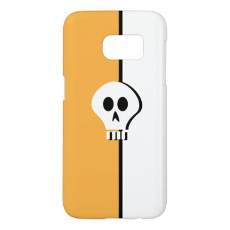 Minimalist Halloween Skull Design Samsung Galaxy S7 Case