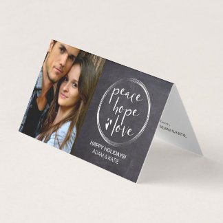 MINIMALIST | HOLIDAY | PEACE HOPE LOVE | PHOTO CARD