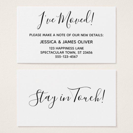"""Minimalist """"I've Moved"""" Card on Editable White"""
