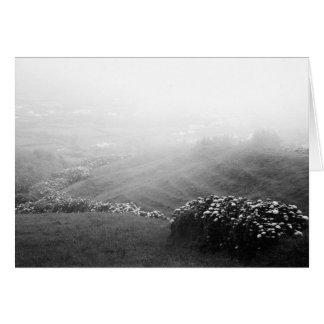 Minimalist landscape greeting card