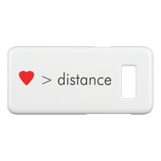 "minimalist ""love is greater than distance""  quote Case-Mate samsung galaxy s8 case"
