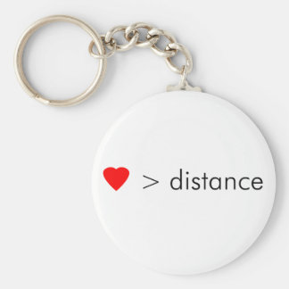 "minimalist ""love is greater than distance""  quote keychain"