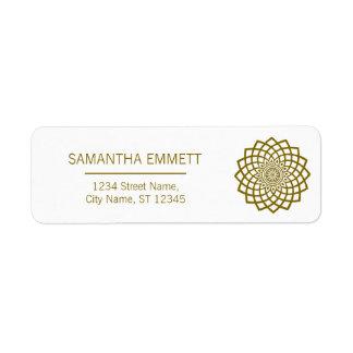 Minimalist Mandala Elegant Business Address Labels