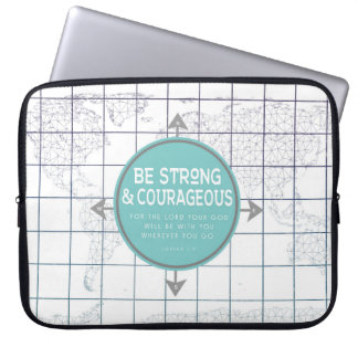 Minimalist Map Inspirational Scripture Laptop Sleeve