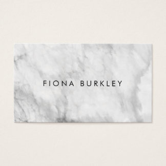 Minimalist Marble Texture Business Card