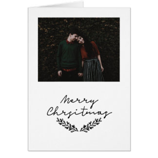 Minimalist 'Merry Christmas' photo card #holidayz