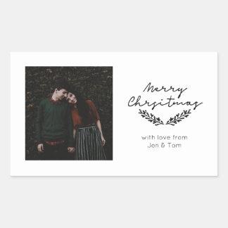 Minimalist 'Merry Christmas' photo sticker