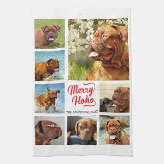 Minimalist Merry Ho Ho 8 Photo Template Towel