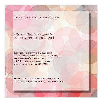 Minimalist Modern 21st Birthday Party Invitation