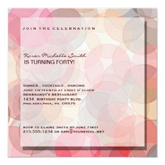 Minimalist Modern 40TH Birthday Party Invitation
