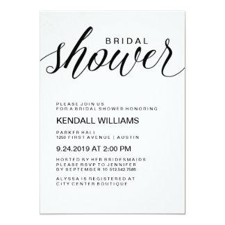 Minimalist Modern Calligraphy Bridal Shower Card