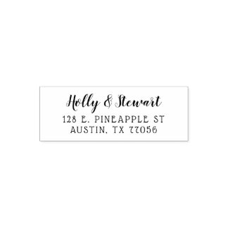 Minimalist Modern Couples Names Return Address Self-inking Stamp