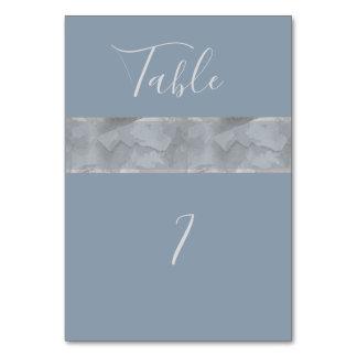 Minimalist modern dusty blue watercolor stripe card