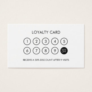 Minimalist Modern Elegant Loyalty Discount Business Card