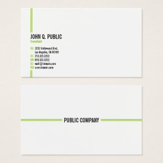 Minimalist Modern Elegant Professional Business Card