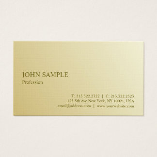 Minimalist Modern Elegant Professional Gold Luxury Business Card