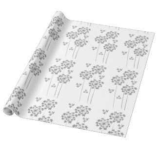 Minimalist Modern Hydrangea Spring /Summer Floral Wrapping Paper