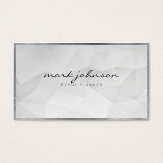 Minimalist Modern Professional White Polygon Cards