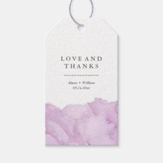 Minimalist Modern Purple Watercolor Wedding Favor Pack Of Gift Tags