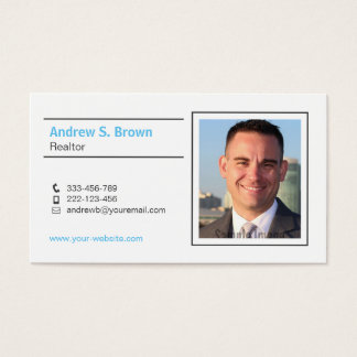 Minimalist Modern Realtor Photo Business Cards