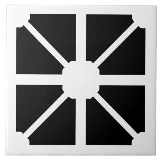 Minimalist modern shapes black and white wall tile