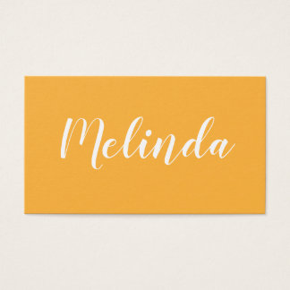 Minimalist modern trendy orange business card