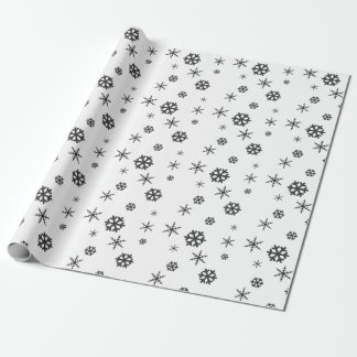 Minimalist & Modern Winter Snowflake Gift Wrapping Wrapping Paper