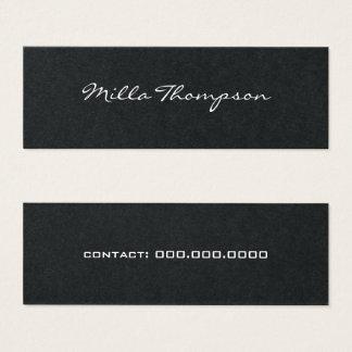 minimalist name & contact-phone dark mini business card