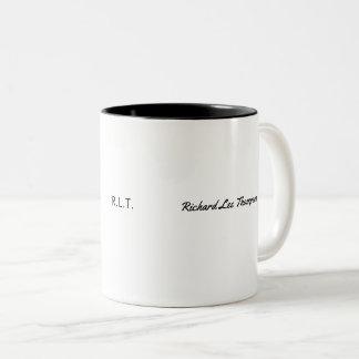 minimalist name & initials modern style b/w Two-Tone coffee mug