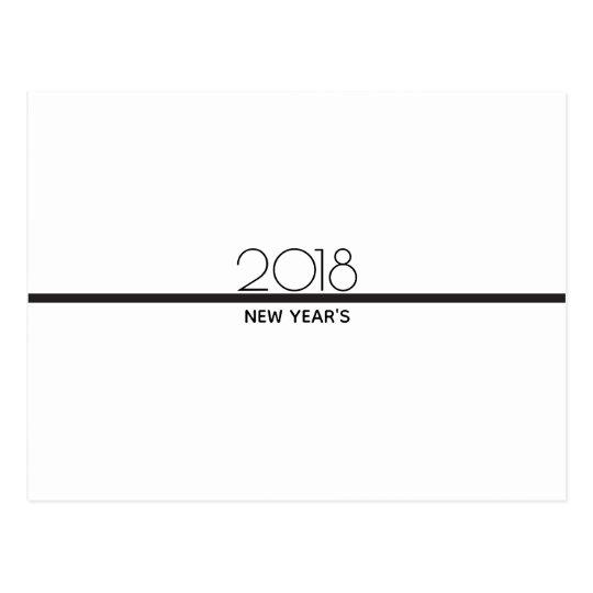 Minimalist New Years Celebration | Postcard