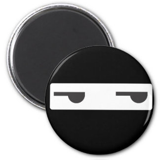 minimalist ninja 2 inch round magnet