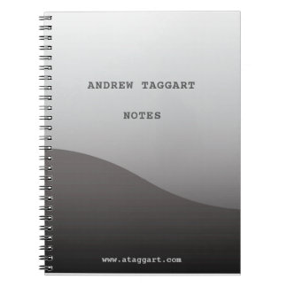 Minimalist Notebook with simple gray design