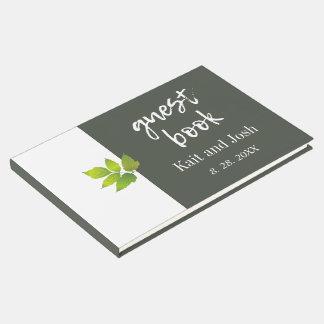 Minimalist Oak Maple Wedding Keepsake Guest Book