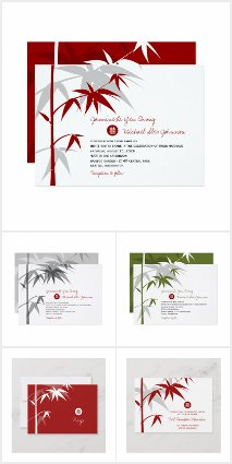 MINIMALIST ORIENTAL BAMBOO | CHINESE WEDDING SUITE