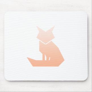 Minimalist Peach Gradient Fox Mousepad
