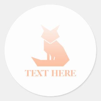 Minimalist Peach Gradient Fox Sticker Set