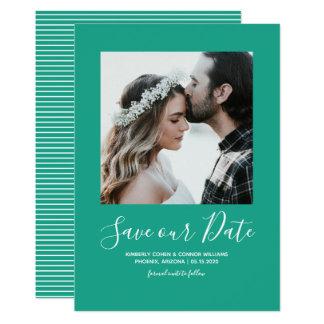 Minimalist Photo Save the Date | Arcadia Green Card
