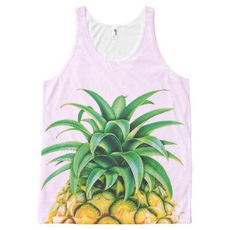 Minimalist Pineapple All-Over-Print Tank Top