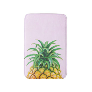 Minimalist Pineapple Bath Mat