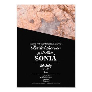 Minimalist Pink Quartz Bridal Shower Card