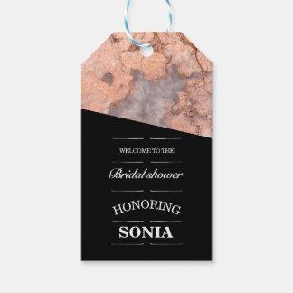 Minimalist Pink Quartz Bridal Shower Gift Tags